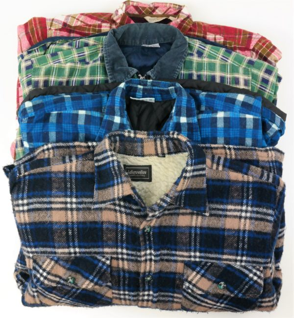 15x Vintage Hemden Flanell gefüttert