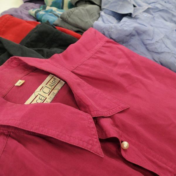 30x Vintage Hemden Seide